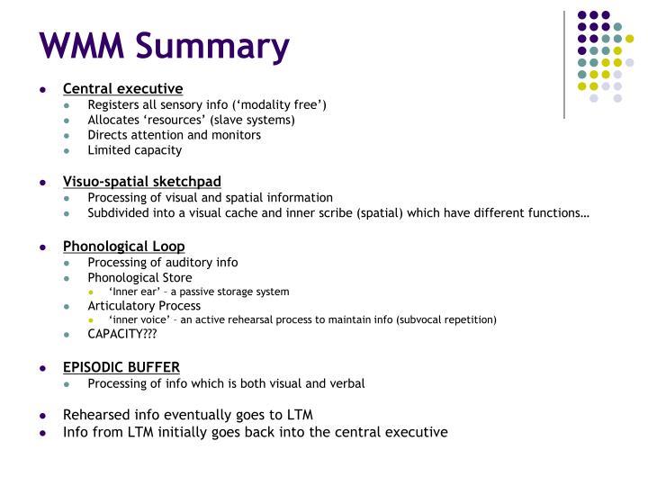 WMM Summary