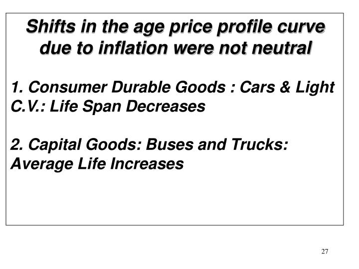 Shifts in the age price profile curve due to inflation were not neutral