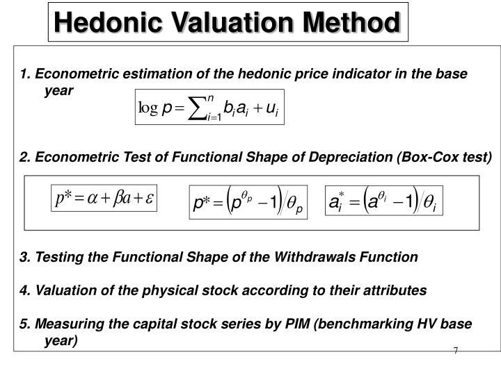 Hedonic Valuation Method