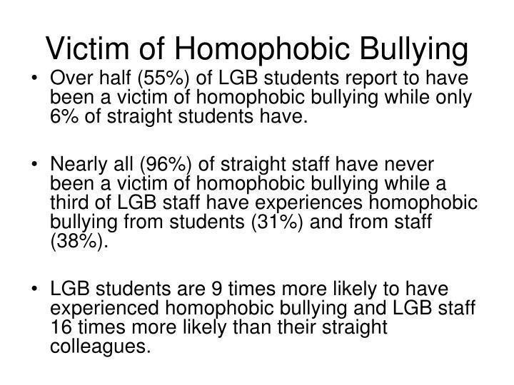 Victim of Homophobic Bullying