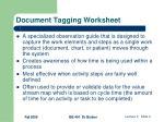 document tagging worksheet