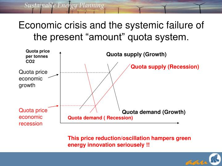 """Economic crisis and the systemic failure of the present """"amount"""" quota system."""