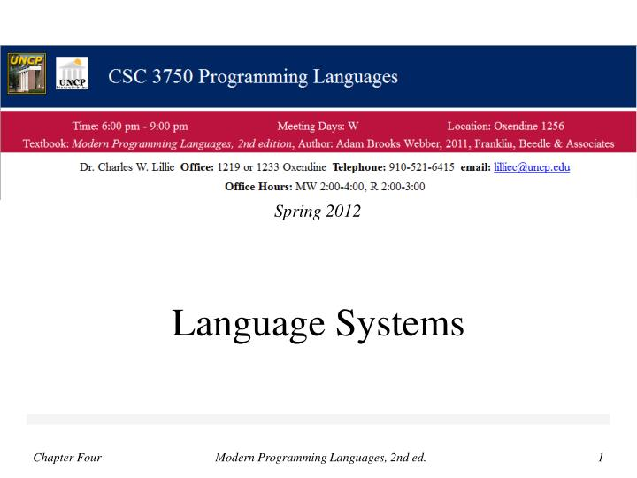 language systems n.
