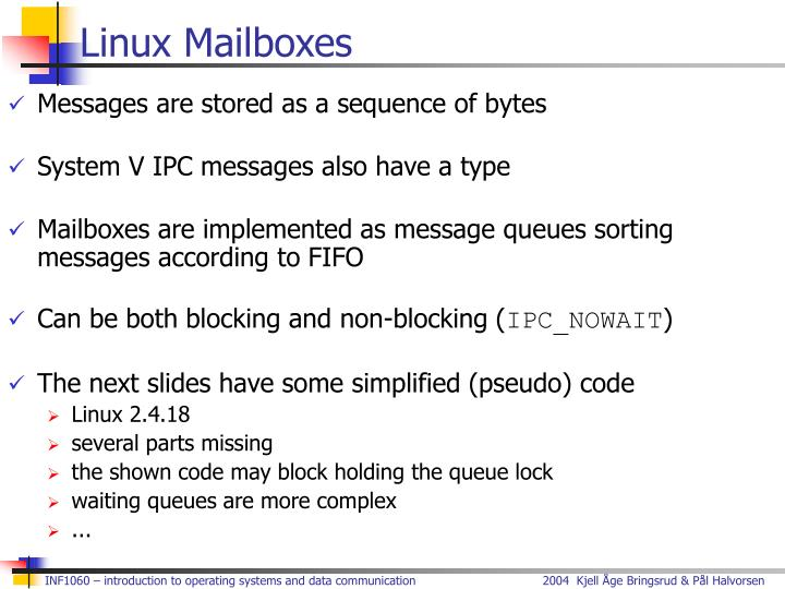 Linux Mailboxes