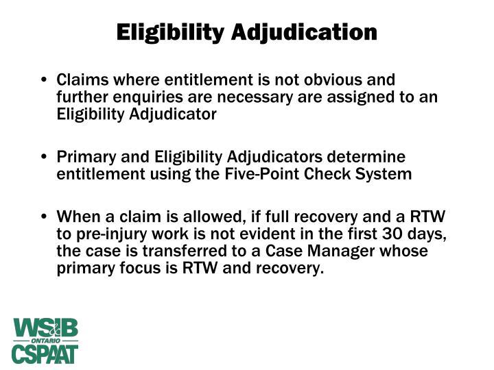 wsib eligibility adjudicator essay