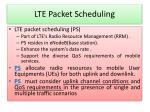 lte packet scheduling