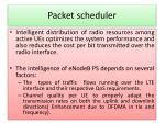 packet scheduler