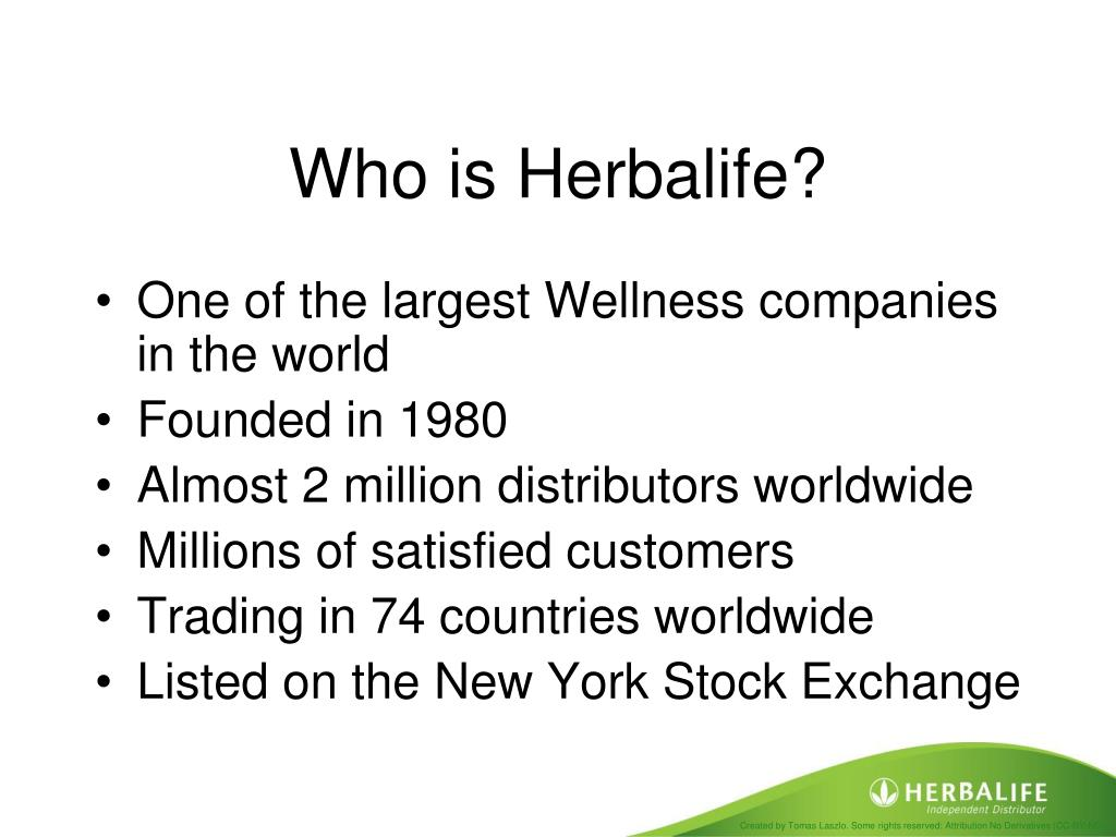 PPT - The Herbalife Business Opportunity PowerPoint Presentation