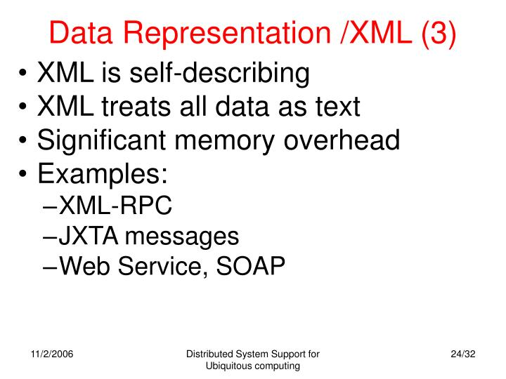 Data Representation /XML (3)