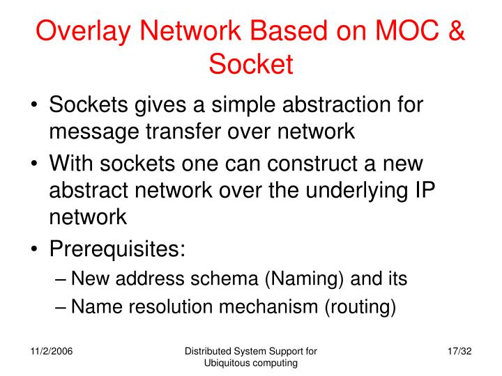 Overlay Network Based on MOC & Socket