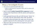 step 3 investigate exons2