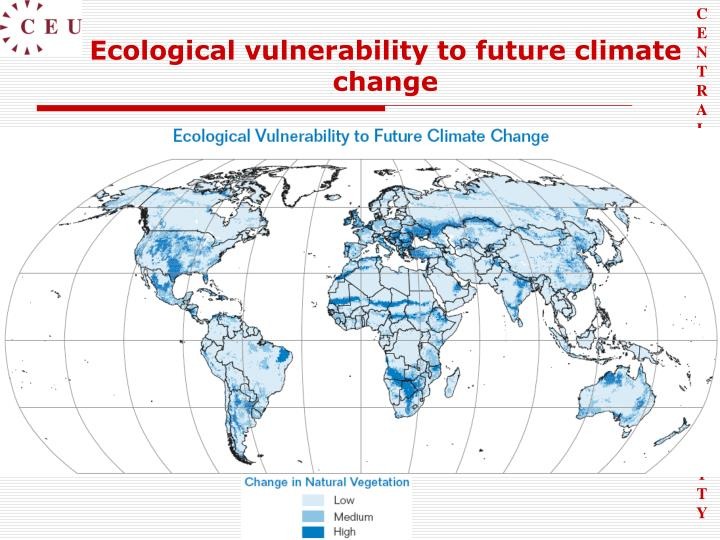 Ecological vulnerability to future climate change