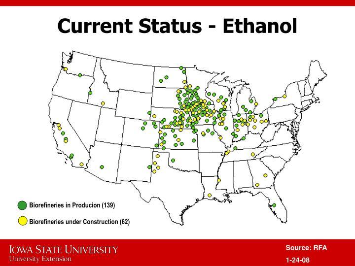 Current Status - Ethanol