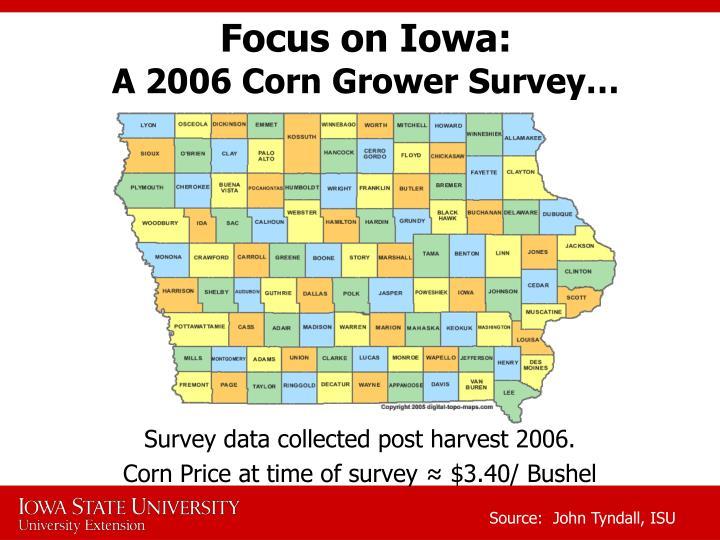 Focus on Iowa: