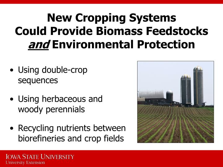 New Cropping Systems