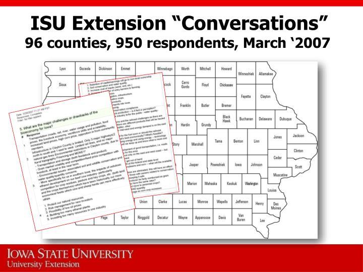 "ISU Extension ""Conversations"""