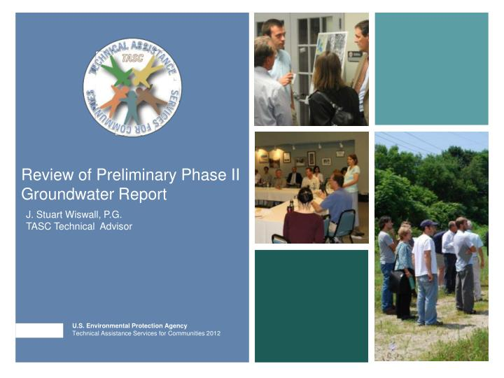 review of preliminary phase ii groundwater report n.