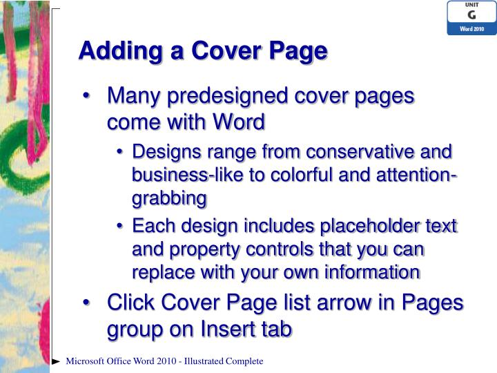 ppt microsoft word 2010 illustrated powerpoint presentation id