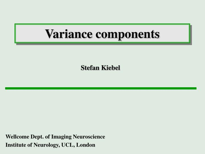 variance components n.