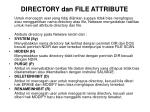 directory dan file attribute