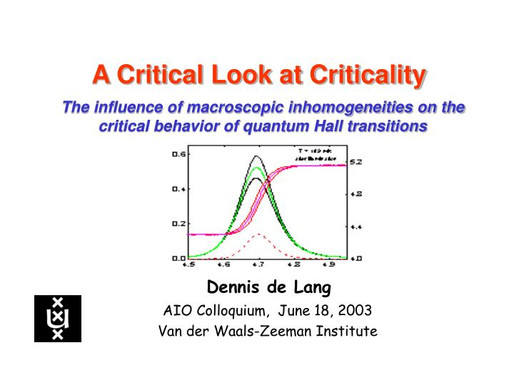 A Critical Look at Criticality