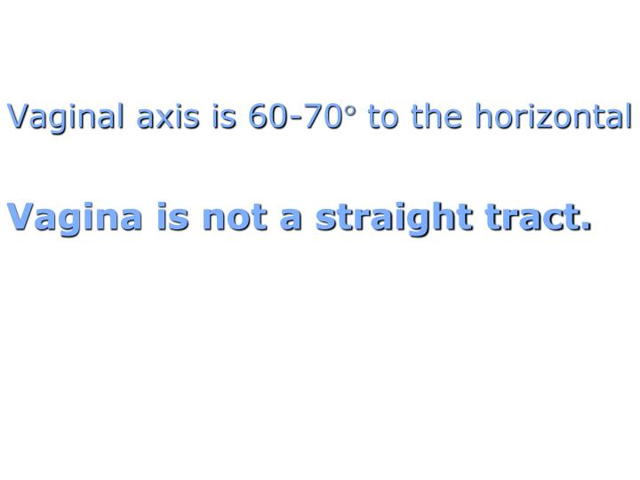 Vaginal axis is 60-70