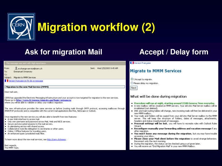 Migration workflow (2)