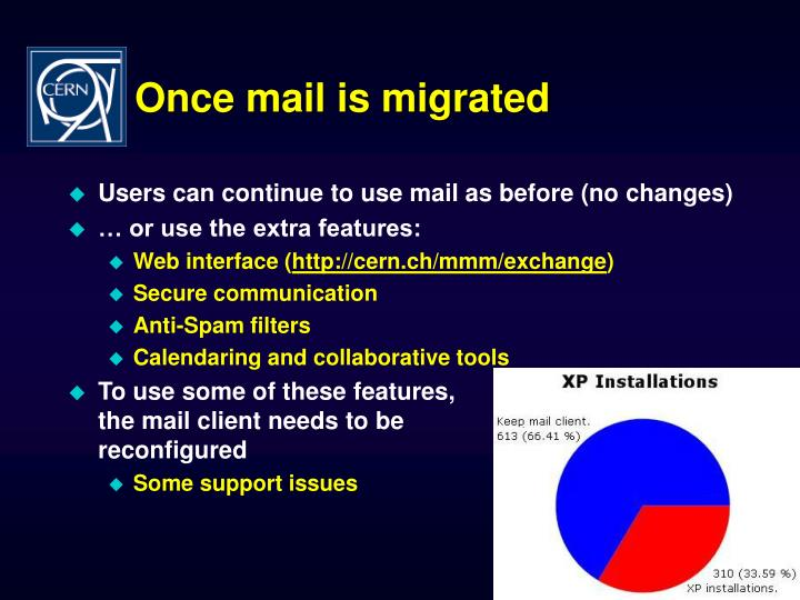 Once mail is migrated