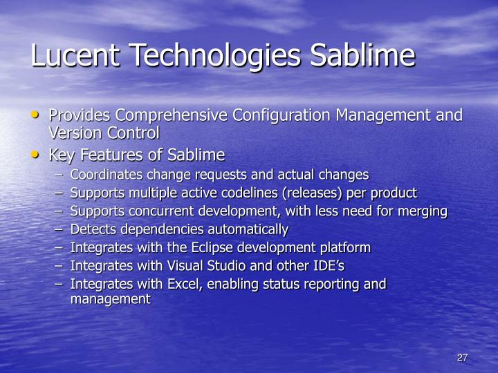 Lucent Technologies Sablime
