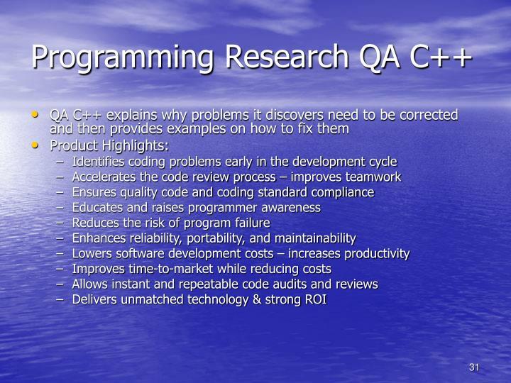 Programming Research QA C++