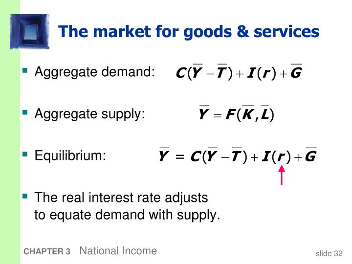 The market for goods & services