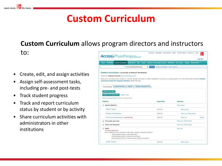 Custom Curriculum