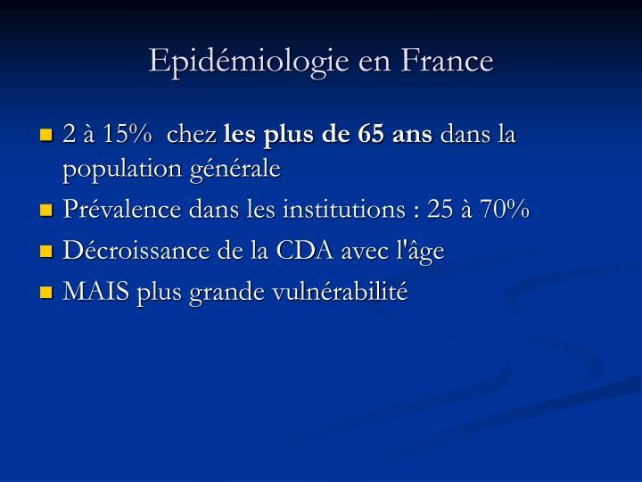 Epid miologie en france