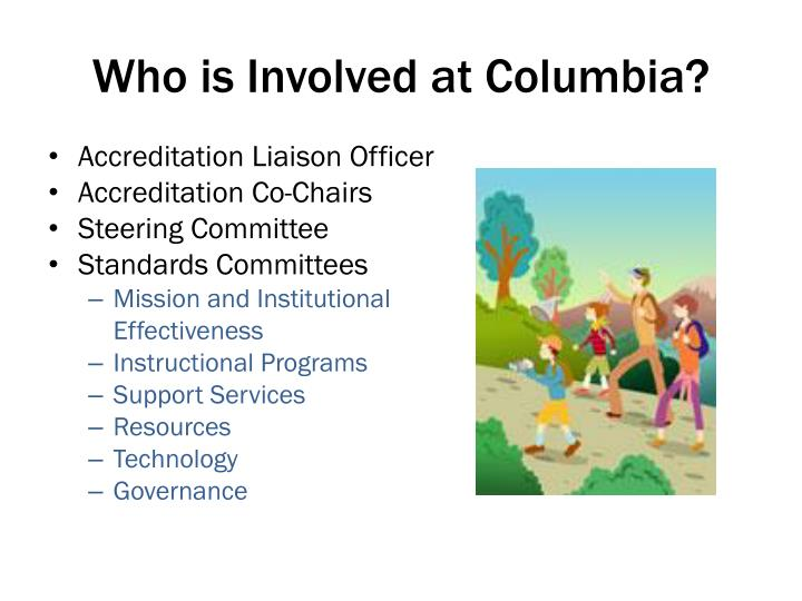 Who is Involved at Columbia?