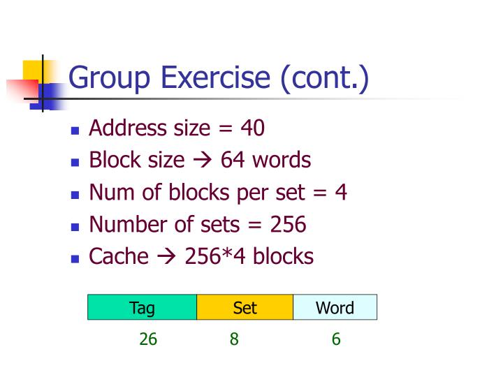Group Exercise (cont.)