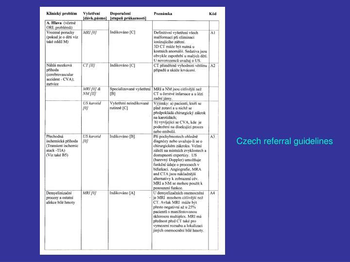 Czech referral guidelines