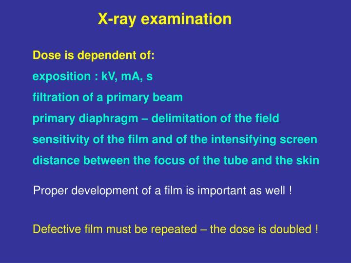 X-ray examination