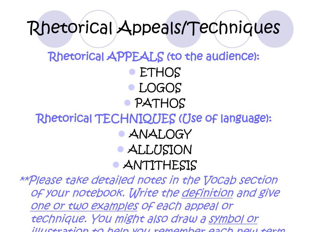 define rhetorical appeals in literature