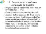 1 desempenho econ mico e mercado de trabalho