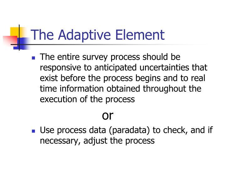The Adaptive Element