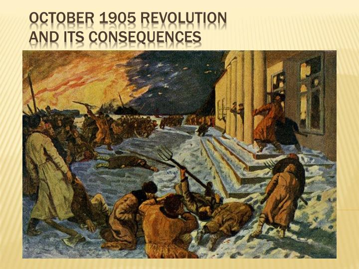 october 1905 revolution and its consequences n.