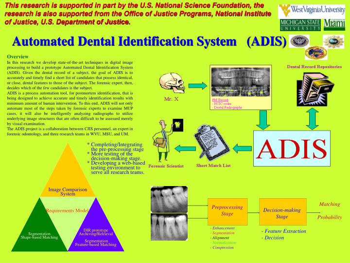Automated dental identification system adis