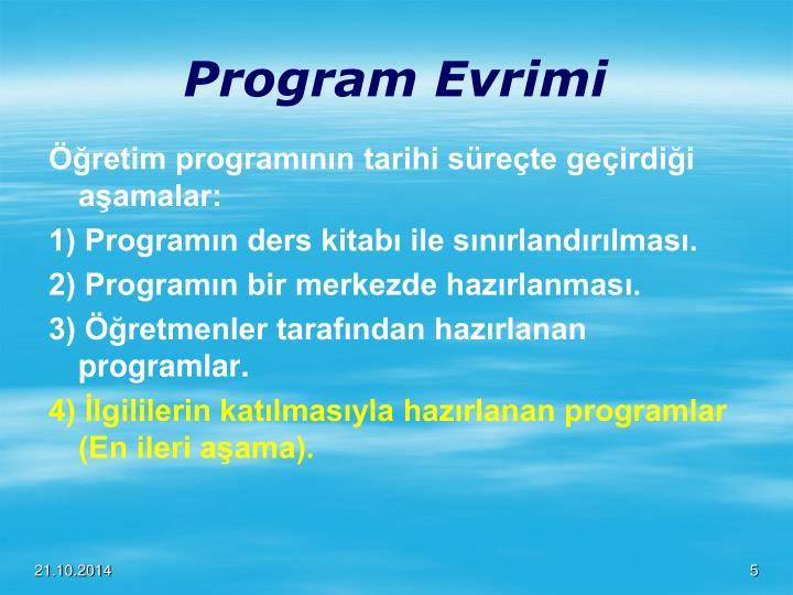 Program Evrimi