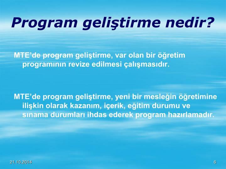 Program geliştirme nedir?