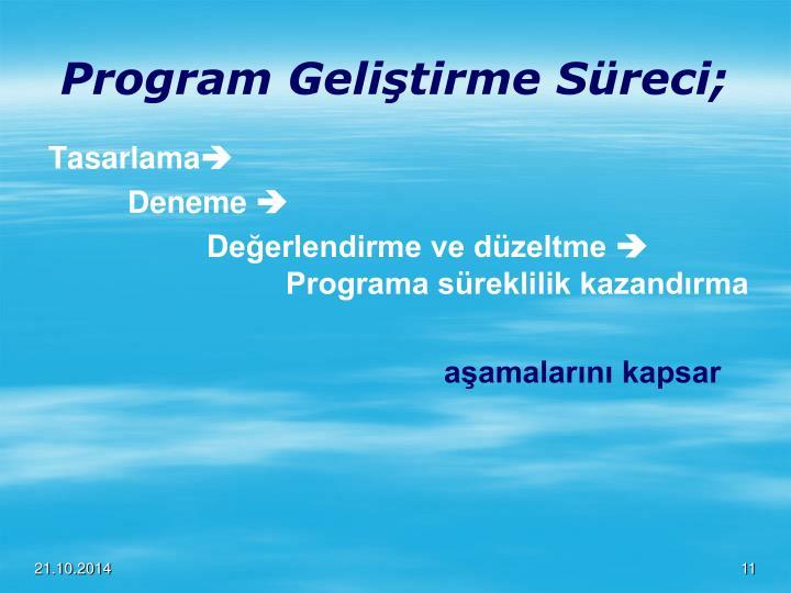 Program Geliştirme Süreci;