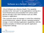 software as a service definition
