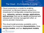 the cloud it s constantly evolving