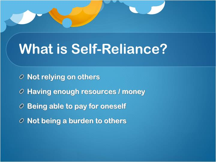 What is self reliance