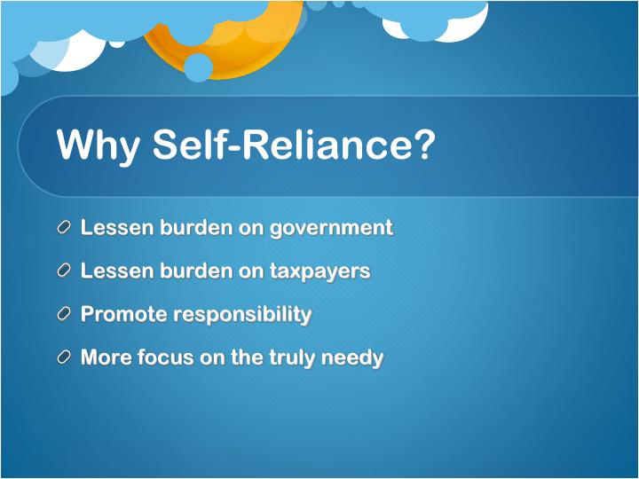 Why self reliance