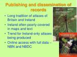publishing and dissemination of records